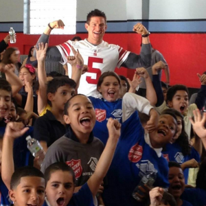 Steve Weatherford with Kids Charity
